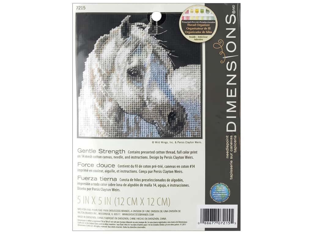 Dimensions Needlepoint Kit 5 x 5 in. Gentle Strength
