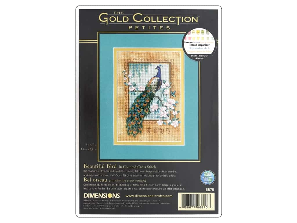 Dimensions Counted Cross Stitch Kit 5 x 7 in. Beautiful Bird