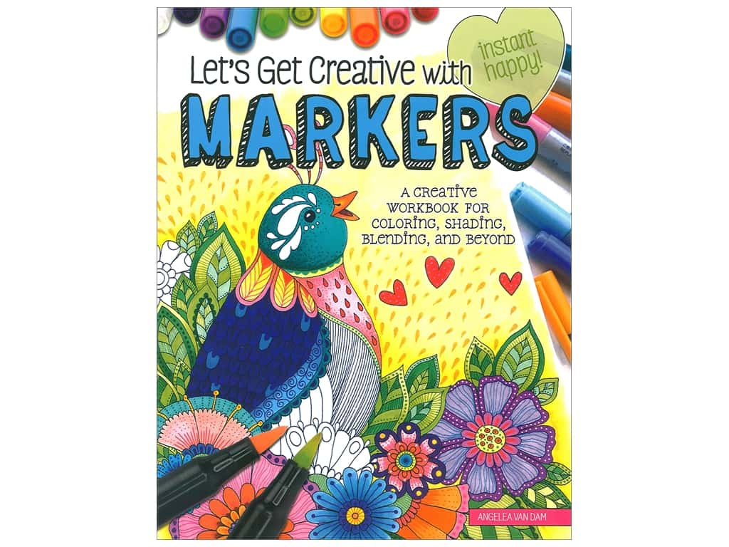 Design Originals Let's Get Creative With Markers Book