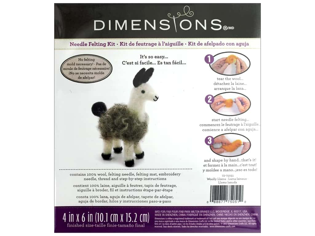 Dimensions Needle Felting Woolly Llama