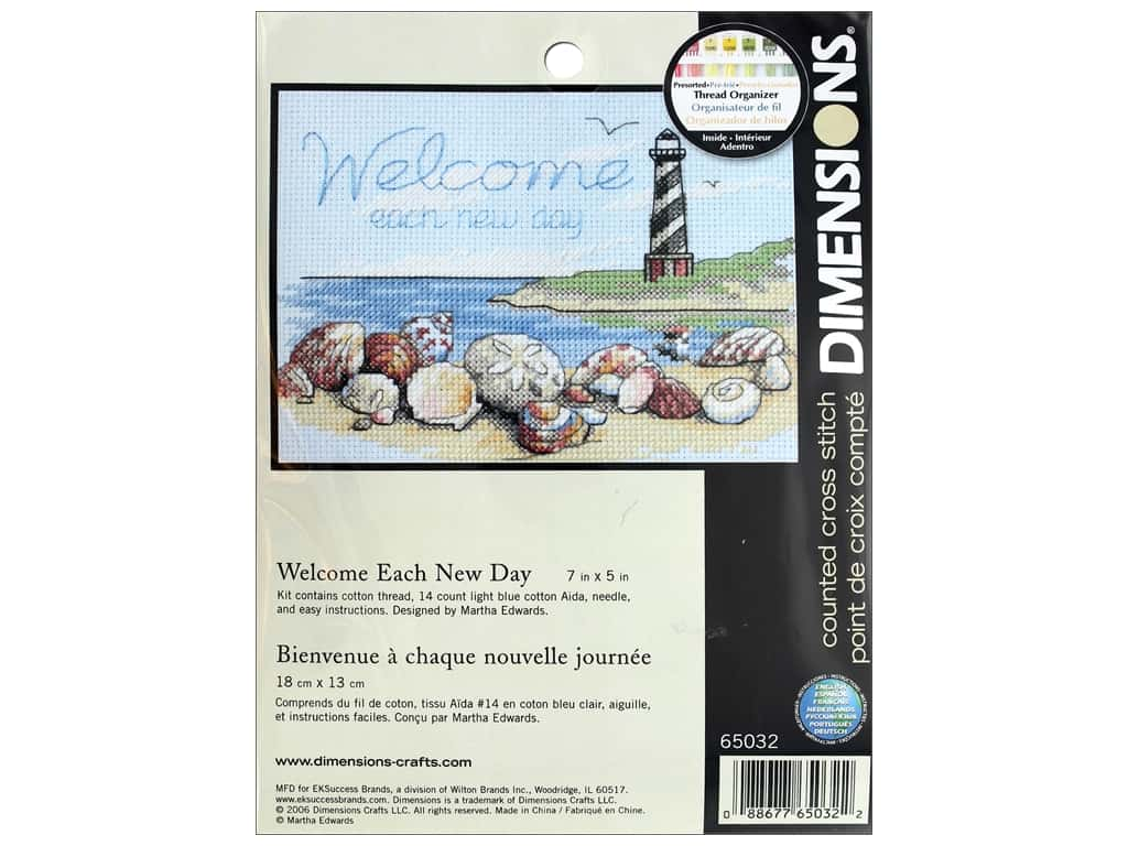 Dimensions Cross Stitch Kit 7 in. x 5 in. Welcome Each New Day