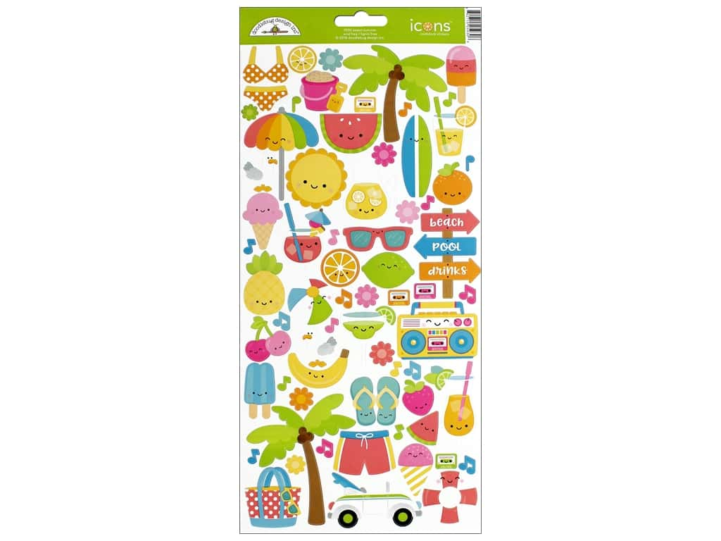 Doodlebug Collection Sweet Summer Sticker Icon (12 pieces)