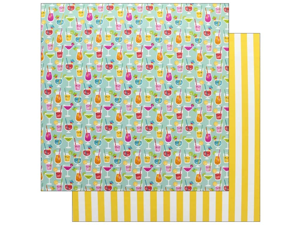 Doodlebug Collection Sweet Summer Paper 12 in. x 12 in. Happy Hour (25 pieces)