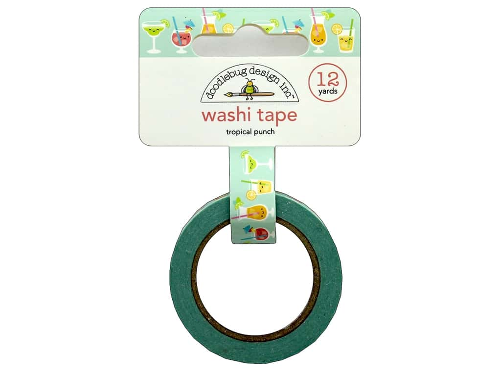 Doodlebug Collection Sweet Summer Washi Tape Tropical Punch