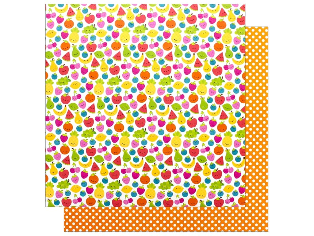 Doodlebug Collection Sweet Summer Paper 12 in. x 12 in. Fruit Cocktail (25 pieces)