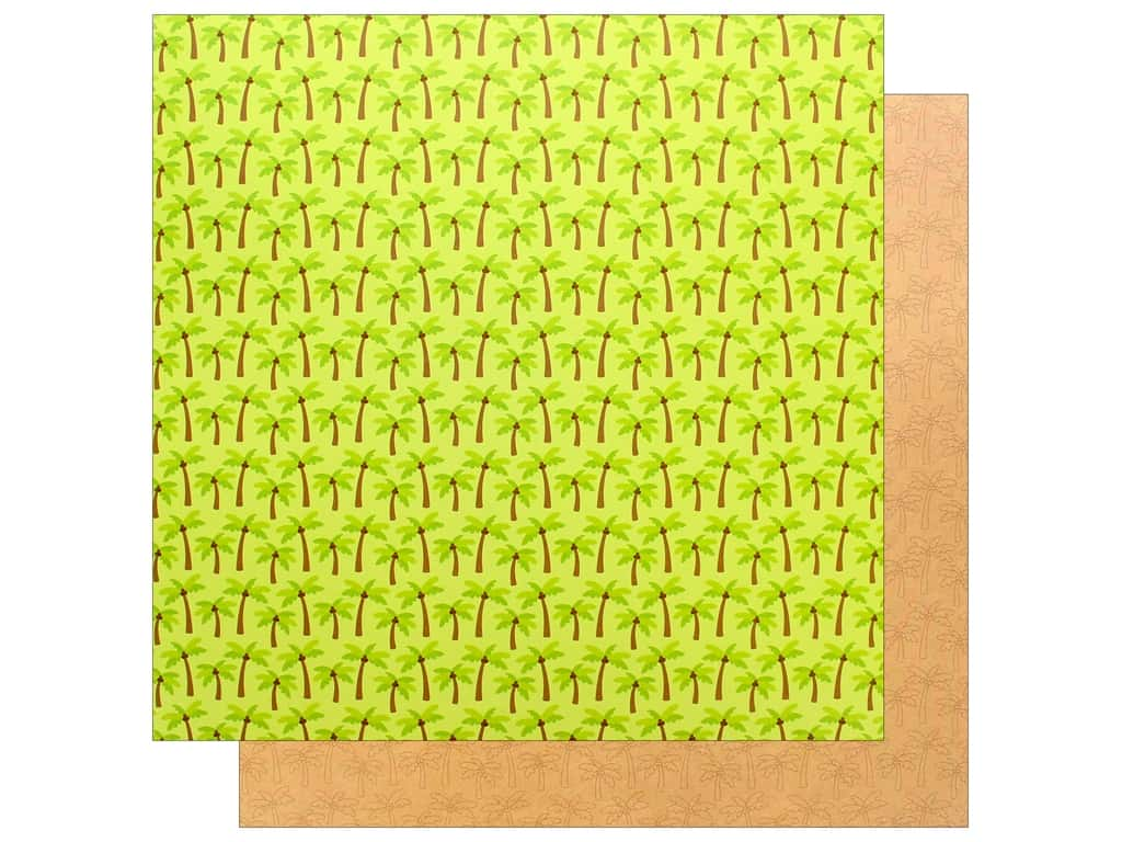 Doodlebug Collection Sweet Summer Paper 12 in. x 12 in. Coconut Grove (25 pieces)