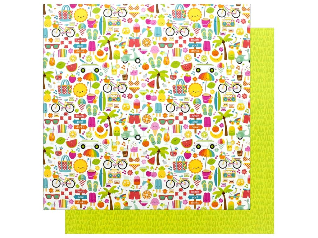 Doodlebug Collection Sweet Summer Paper 12 in. x 12 in. Summer Fun (25 pieces)