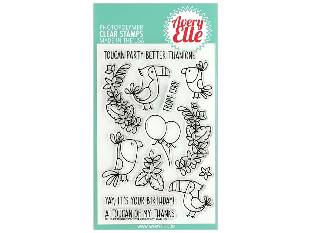 Avery Elle Clear Stamp Toucan Party
