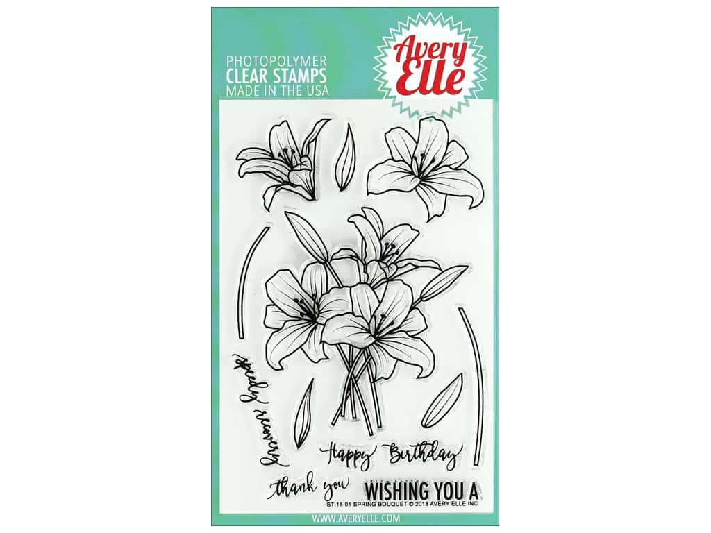 Avery Elle Clear Stamp Spring Bouquet