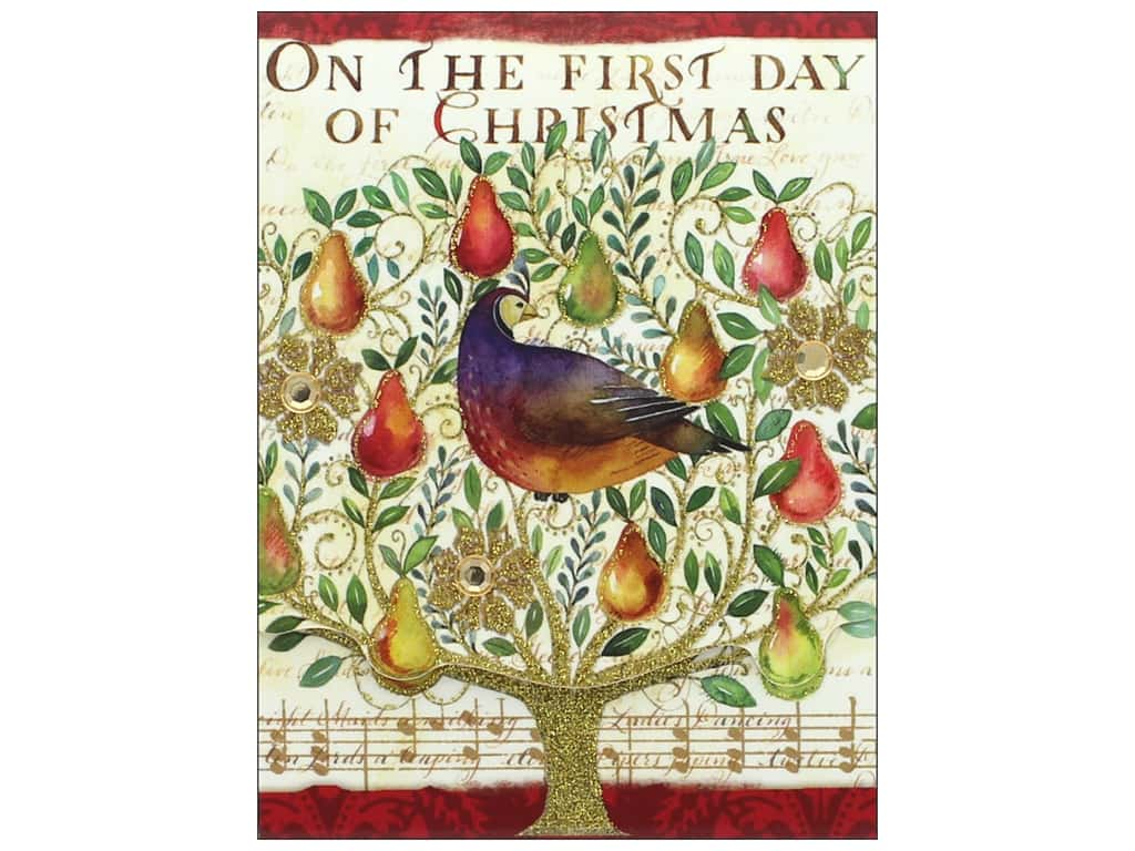 Punch Studio Note Pad Pocket 12 Days Of Christmas