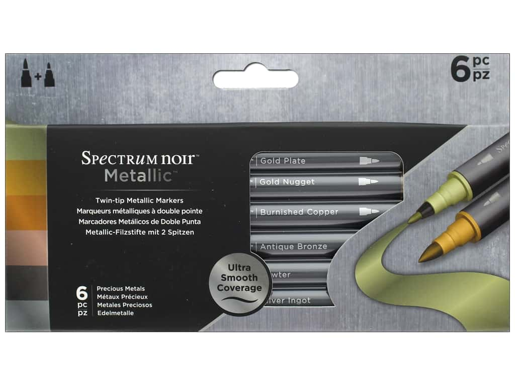 Crafter's Companion Spectrum Noir Pen Metallic 6 pc Precious Metals
