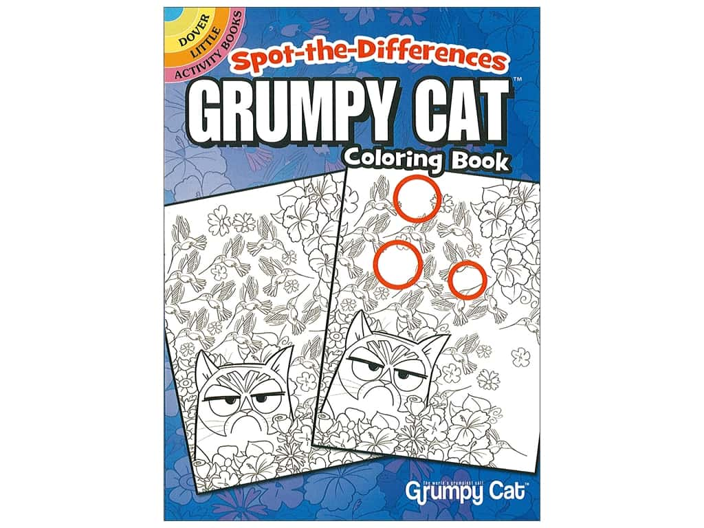 Dover Publications Little Spot The Differences Grumpy Cat Coloring Book