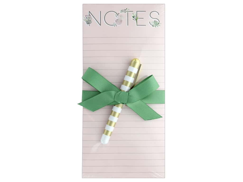Lady Jayne Note Pad Magnetic List With Pen Floral Notes