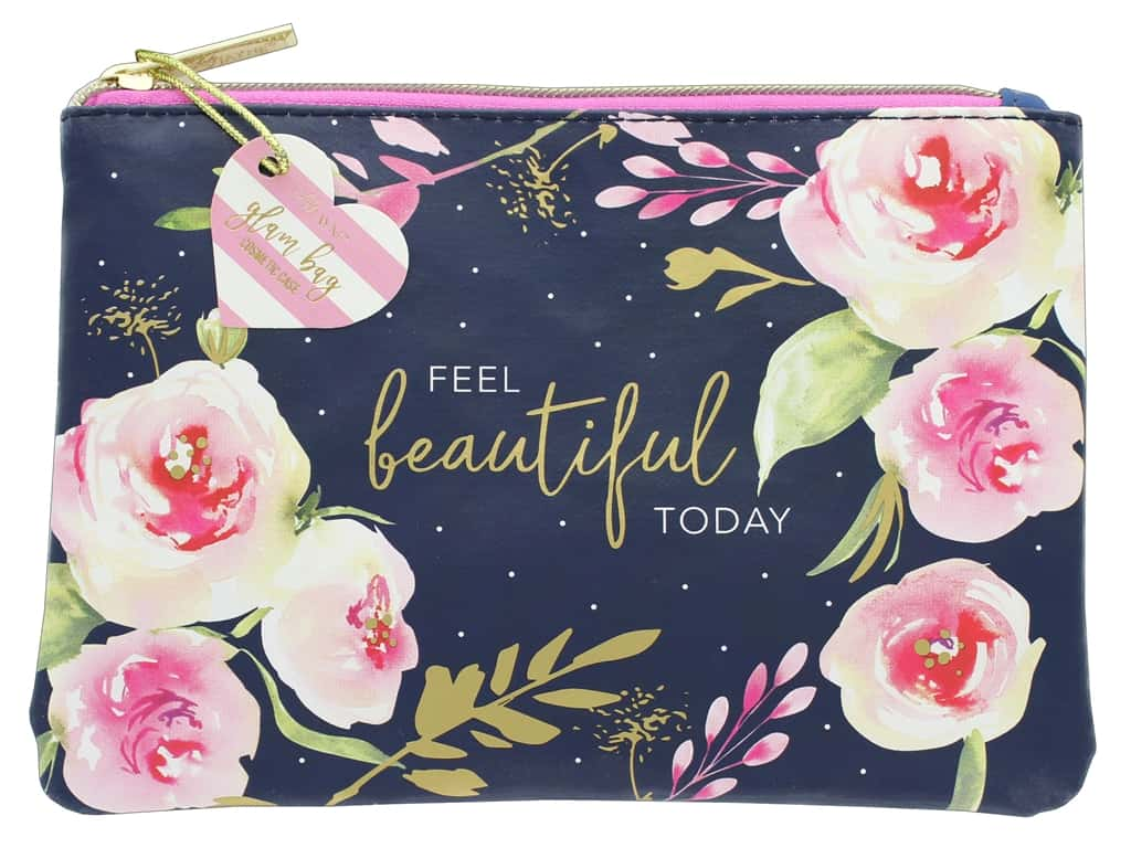 Lady Jayne Cosmetic Bag Glam Navy Roses Feel Beautiful Today