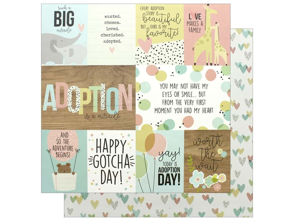 Simple Stories Collection Oh Baby Adoption Paper 12 in. x 12 in. Elements (25 pieces)