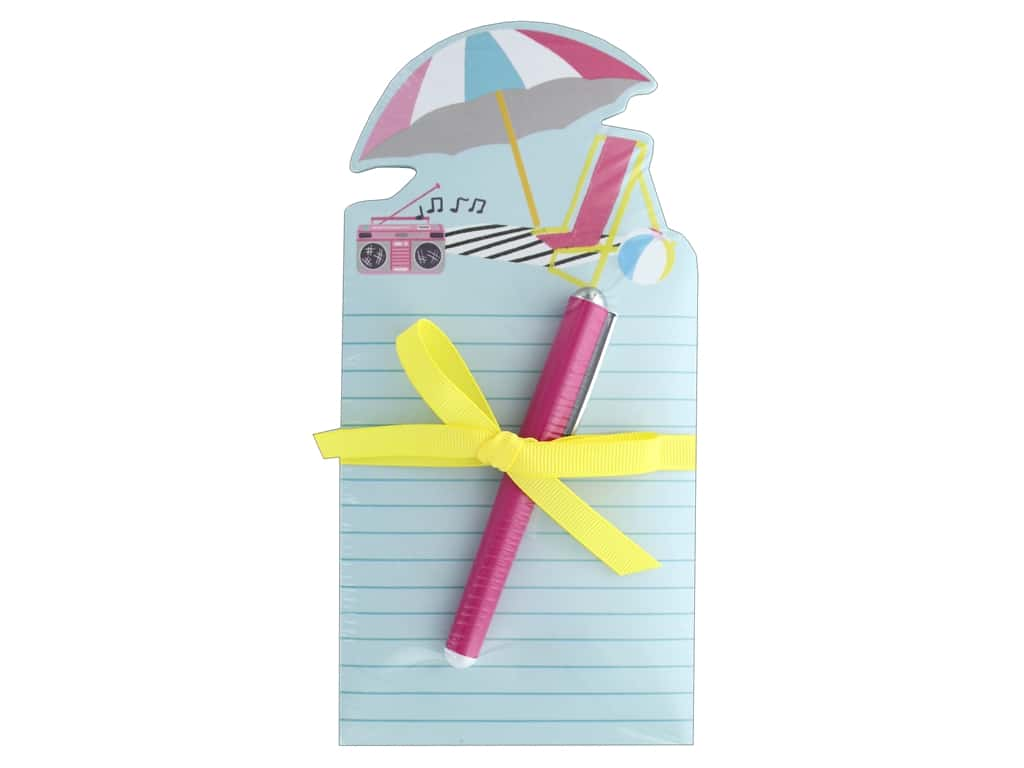Lady Jayne Note Pad Die Cut With Pen Umbrella