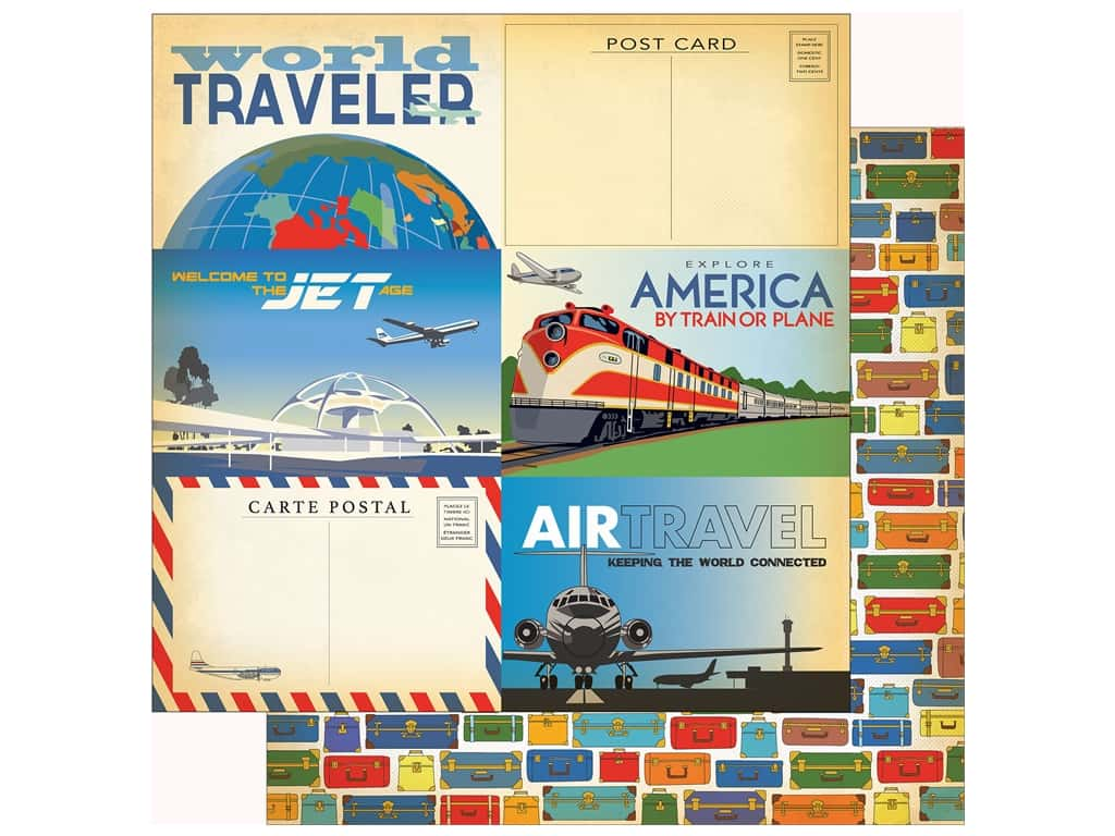 Carta Bella Collection Passport Paper 12 in. x 12 in. Journaling Card 3 in. x 4 in. (25 pieces)