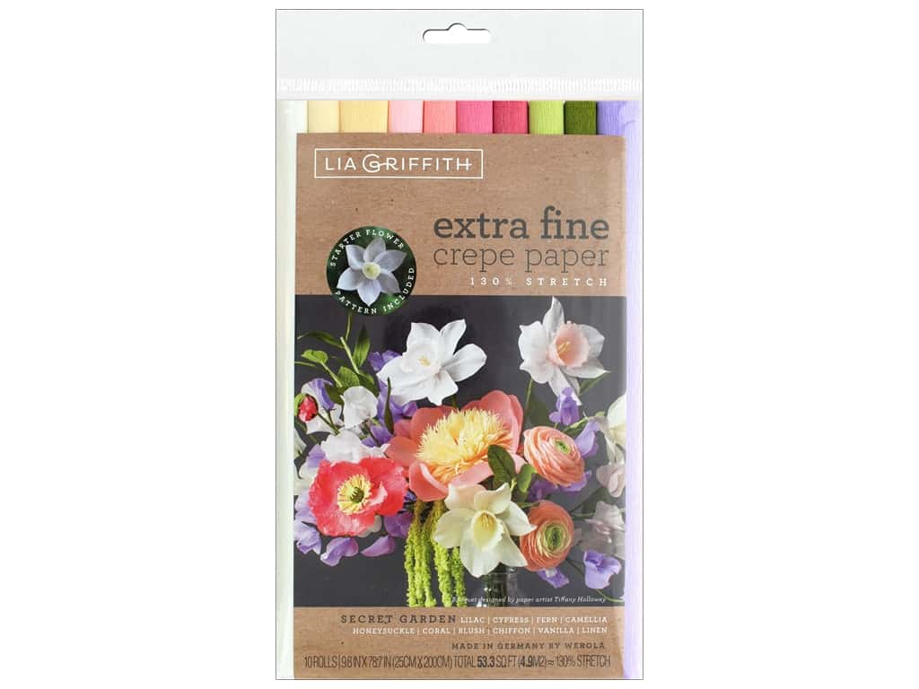 Werola Lia Griffith Crepe Paper X Fine 10 pc Secret Garden