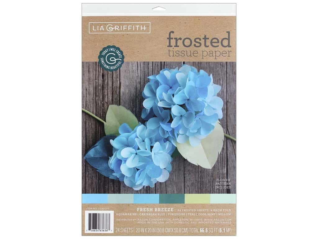 Werola Lia Griffith Tissue Paper Frosted 24 pc Breeze