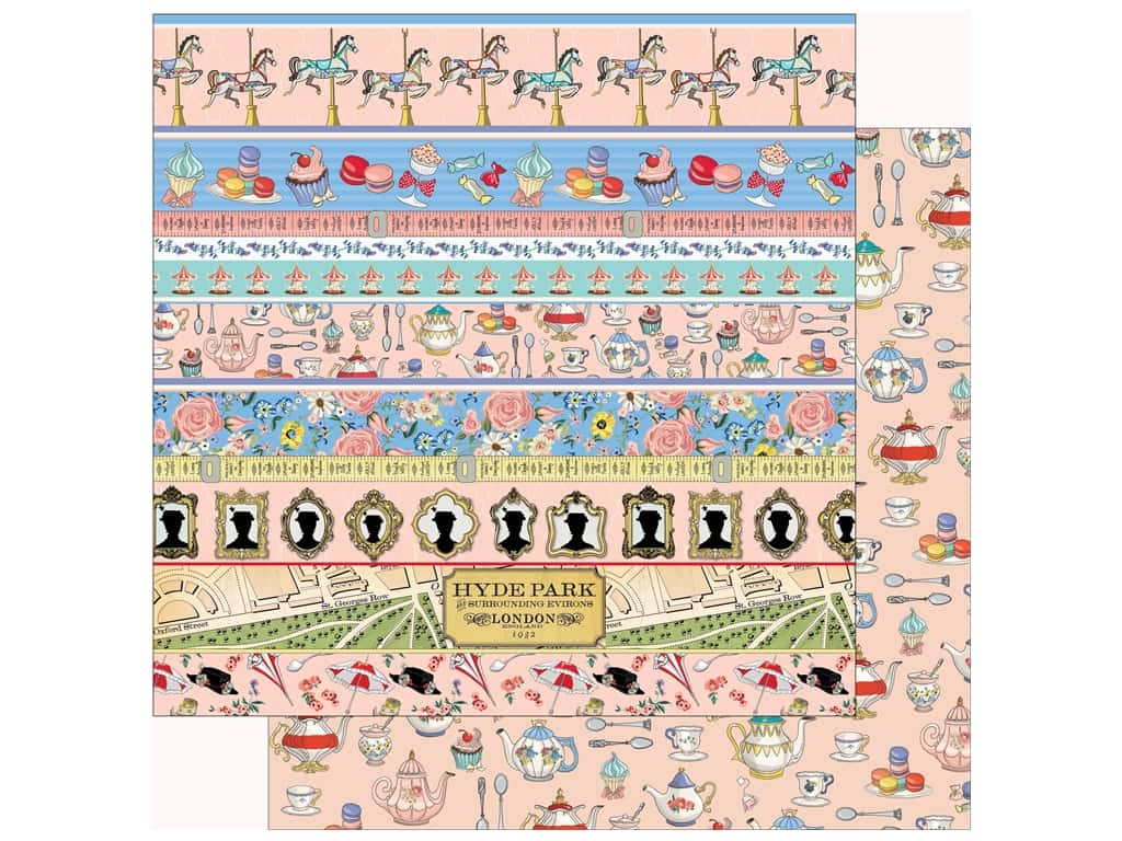 Carta Bella Practically Perfect Paper 12 in. x 12 in. Border Strips (25 pieces)