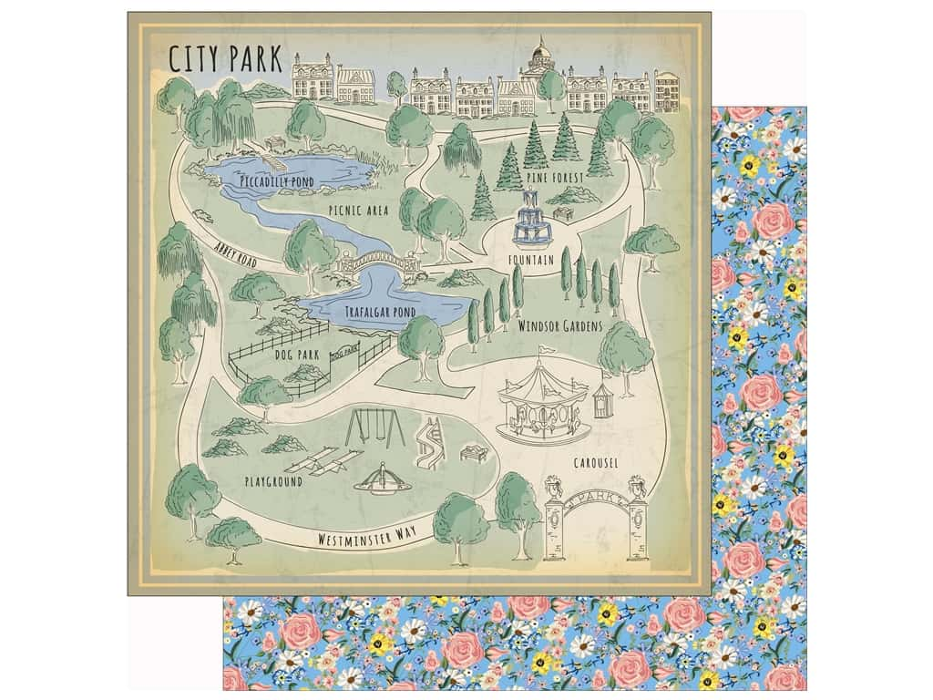 Carta Bella Practically Perfect Paper 12 in. x 12 in. City Park (25 pieces)