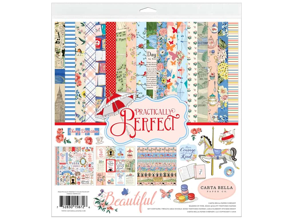 Carta Bella Collection Practically Perfect Collection Kit 12 in. x 12 in.
