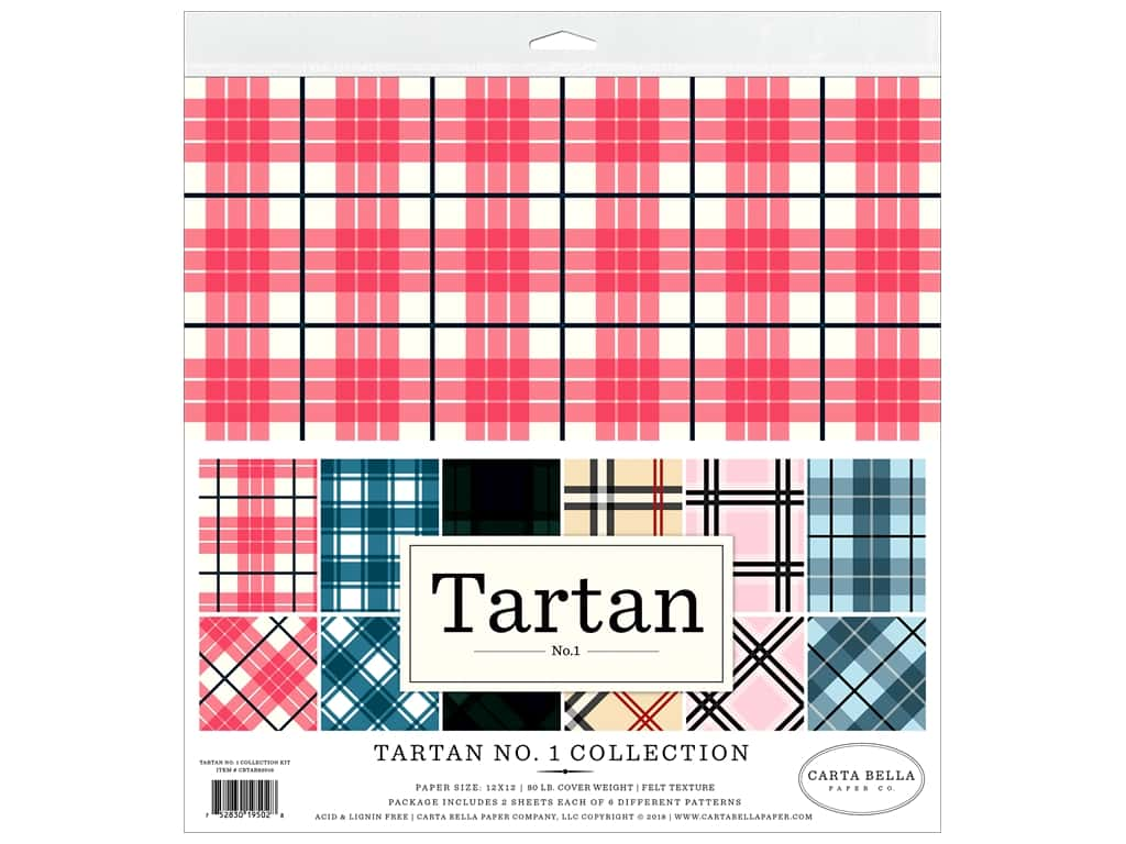Carta Bella Collection Tartan 1 Collection Kit 12 in. x 12 in.