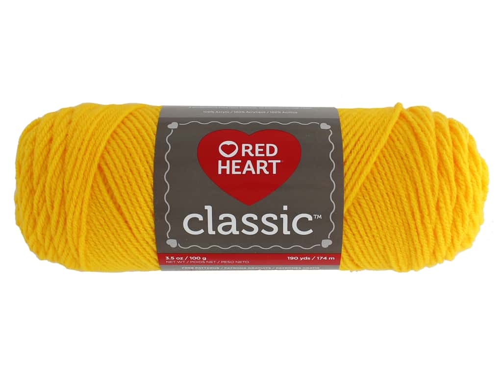 Red Heart Classic Yarn 190 yd. #1270 Golden Yellow