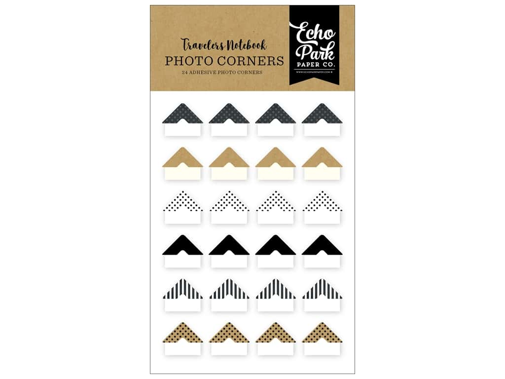 Echo Park Collection Travelers Notebook Coffee & Friends Photo Corners