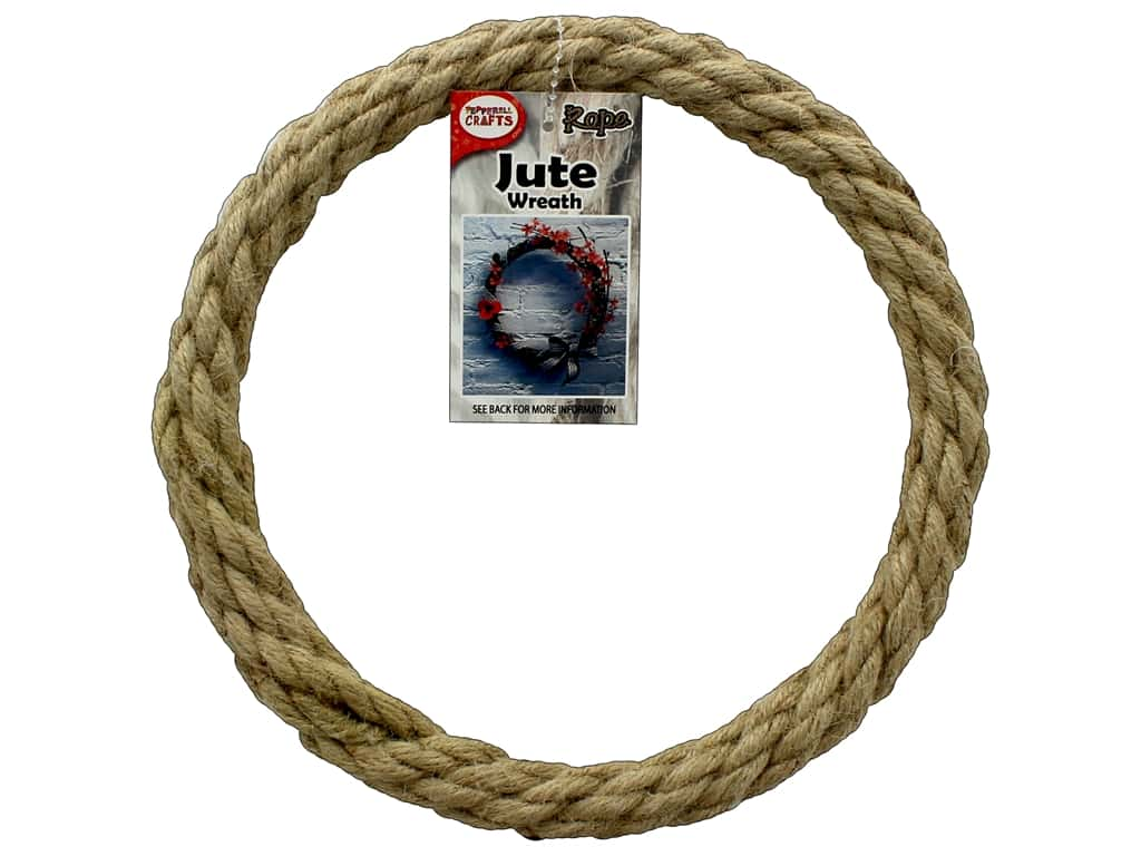 Pepperell Craft Rope Wreath Jute 8 in.
