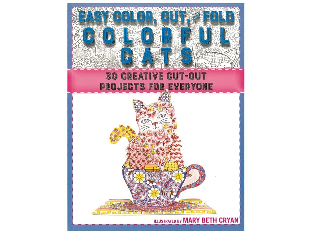 Easy Color, Cut, & Fold Colorful Cats Book
