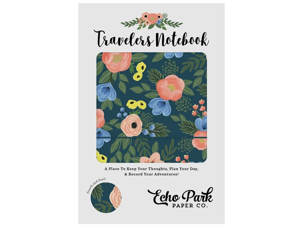 Echo Park Collection Travelers Notebook Navy Floral