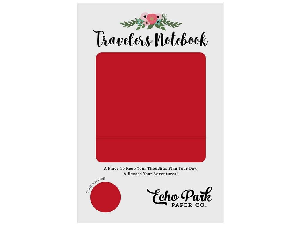 Echo Park Collection Travelers Notebook Red