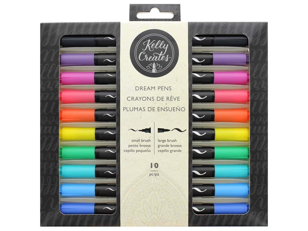 American Crafts Collection Kelly Creates Pen Dual Tip 10pc Dream Rainbow