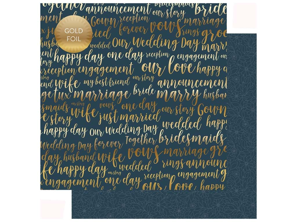Echo Park Collection Just Married Paper 12 in. x 12 in. Our Love (25 pieces)