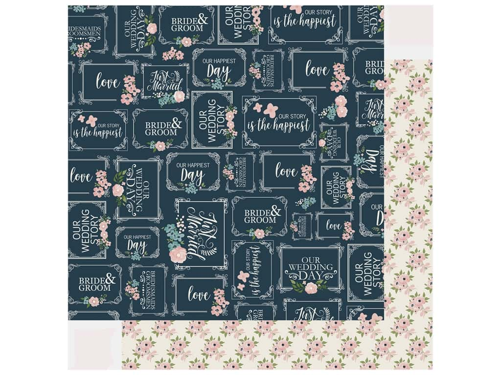 Echo Park Collection Just Married Paper 12 in. x 12 in. Our Story (25 pieces)