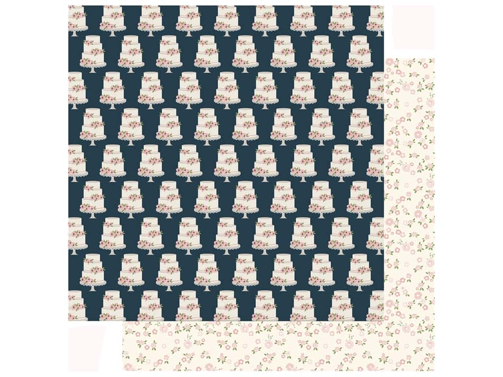 Echo Park Collection Just Married Paper 12 in. x 12 in. Sweet Love (25 pieces)