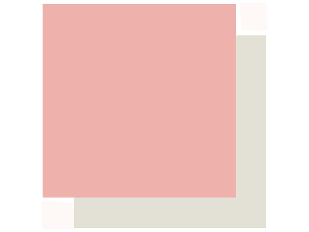 Echo Park Collection Just Married Paper 12 in. x 12 in. Dark Pink/Cream (25 pieces)