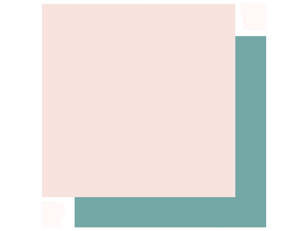 Echo Park Collection Just Married Paper 12 in. x 12 in. Light Pink/Teal (25 pieces)