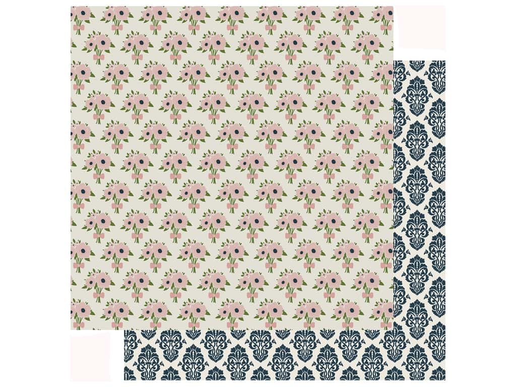 Echo Park Collection Just Married Paper 12 in. x 12 in. Bouquet Of Love (25 pieces)