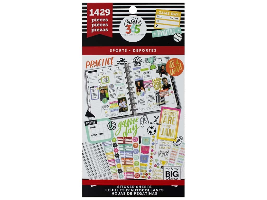 Me&My Big Ideas Happy Planner Sticker Value Pack Sports