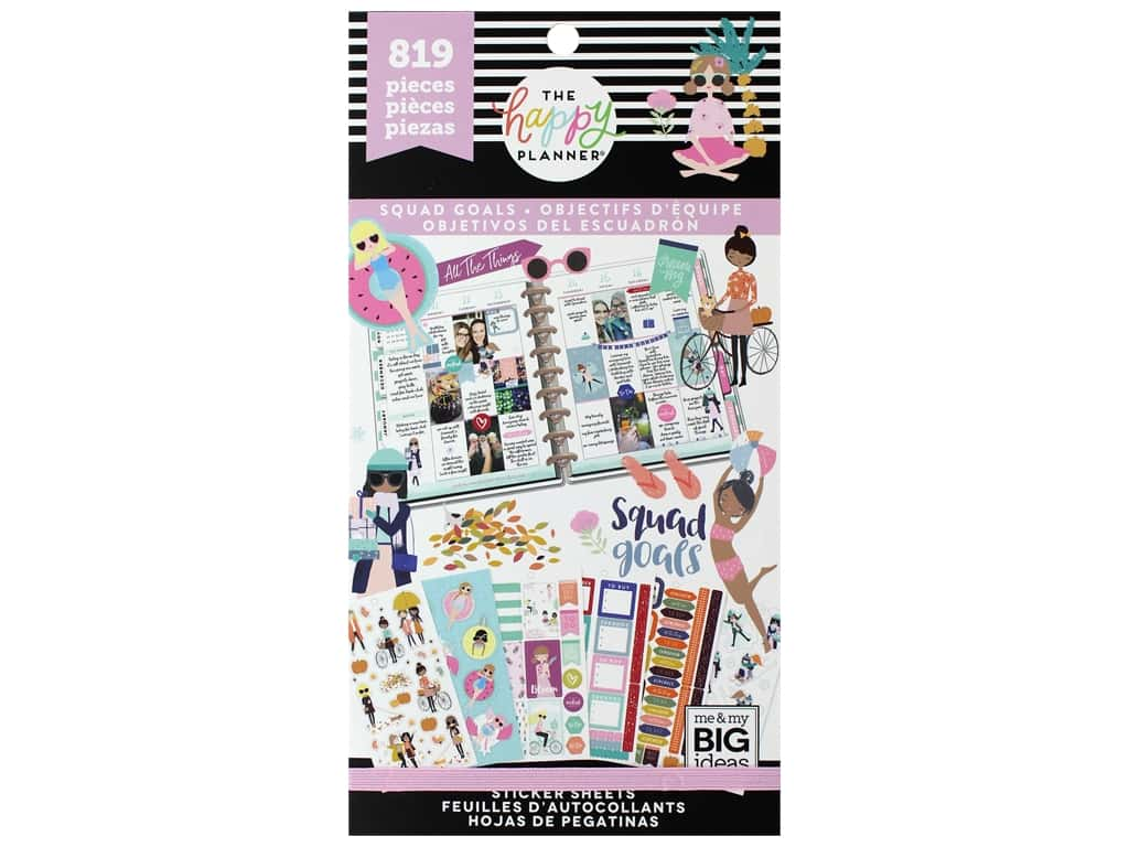 Me&My Big Ideas Happy Planner Sticker Value Pack Squad Goals