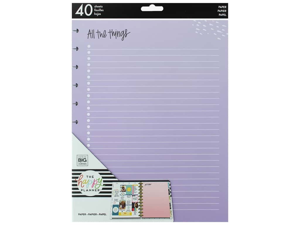 Me&My Big Ideas Happy Planner Filler Paper Big Colored All The Things