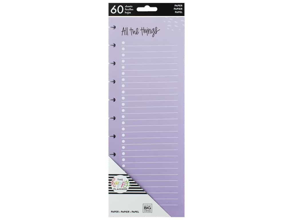 Me&My Big Ideas Happy Planner Filler Paper Big Half Sheet All The Things