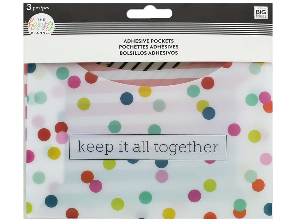Me&My Big Ideas Collection Create 365 Happy Planner Adhesive Pocket Dot