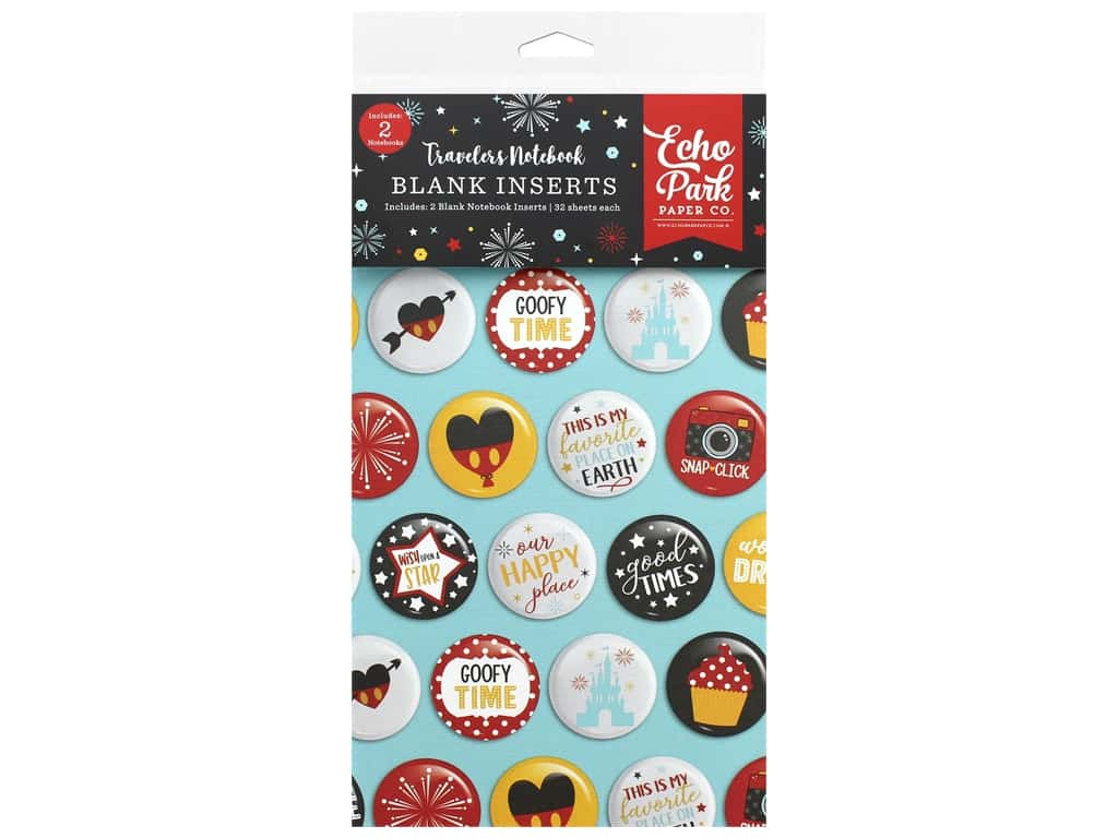 Echo Park Collection Travelers Notebook Wish Upon/Star Notebook Insert Blank
