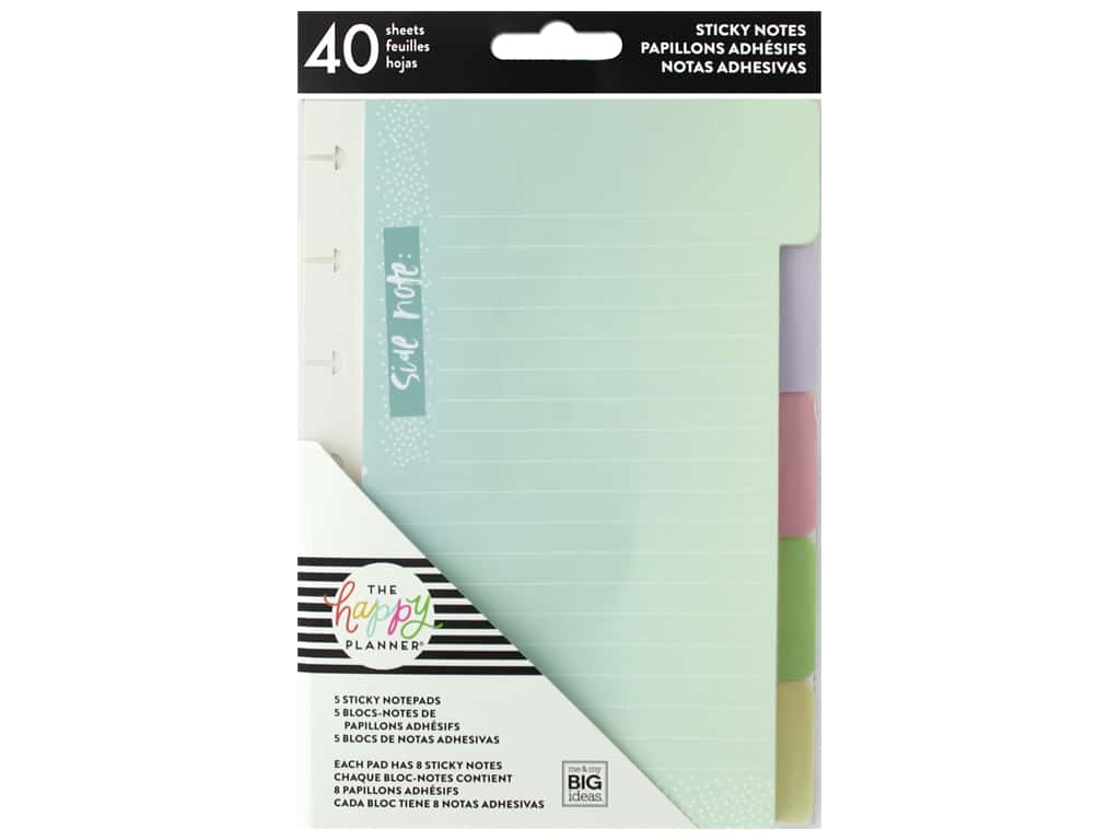 Me&My Big Ideas Happy Planner Sticky Notes Tabs Pastel
