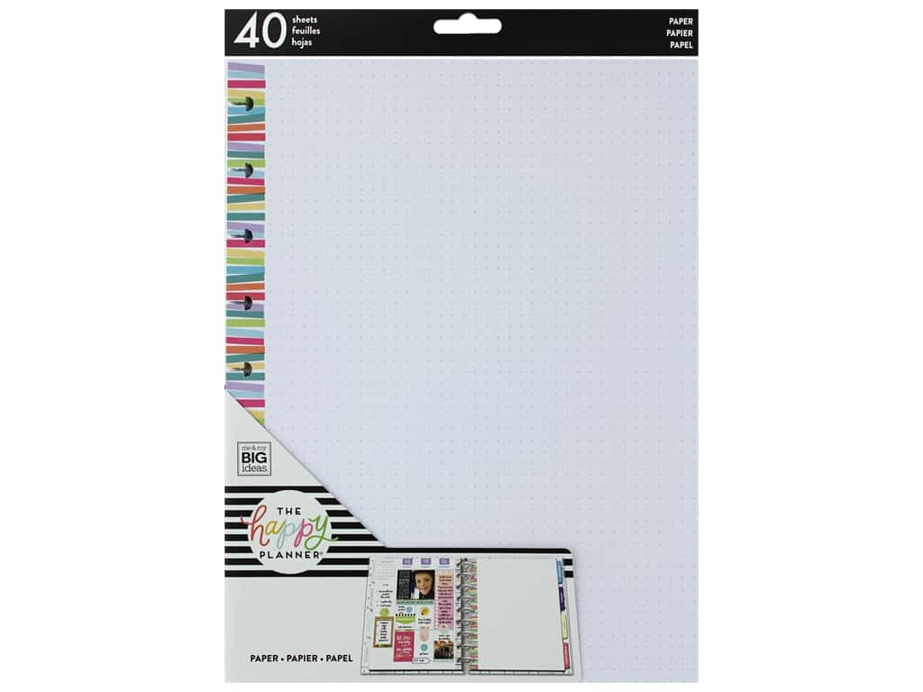 Me&My Big Ideas Happy Planner Filler Paper Classic Stripe Dot Multi