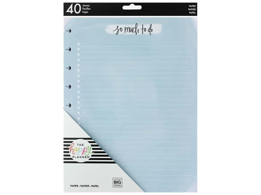 Me&My Big Ideas Happy Planner Filler Paper Classic Color So Much To Do