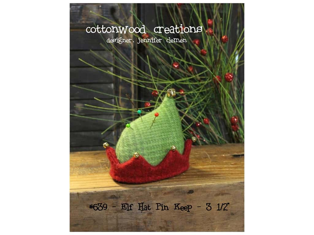 Cottonwood Creations Elf Hat Pin Keep Pattern